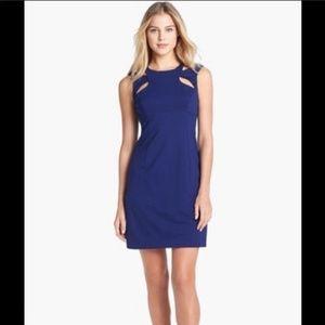 Betsey Johnson blue cutout dress